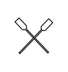 Two oars icon vector