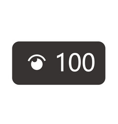 video views counter user count of live vector image