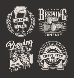 vintage brewing prints vector image