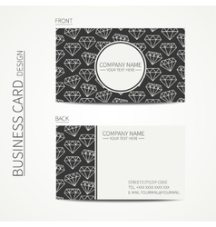 Vintage creative simple business card template vector image
