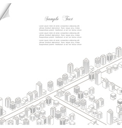 Architecture concept background vector image vector image