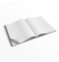 Blank opened magazine cover template vector image