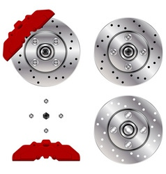 car brake disk system vector image vector image