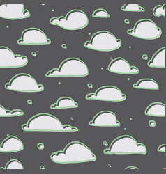 cute clouds seamless pattern vector image vector image