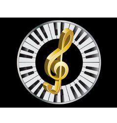 Golden treble clef vector image vector image