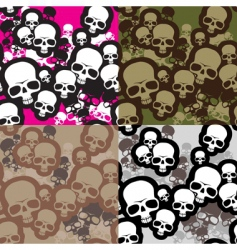 skulls camouflage vector image vector image