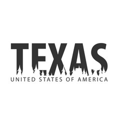 texas usa united states of america text or vector image