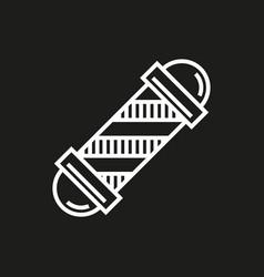 barbershop element icon on black vector image