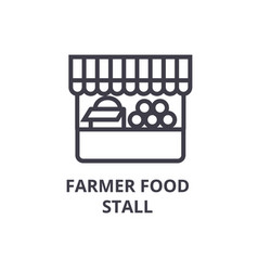 farmer food stall line icon outline sign linear vector image vector image