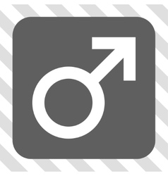 Male Symbol Rounded Square Button vector image vector image