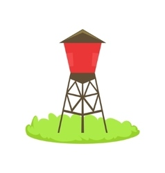 Red Water Barrel Cartoon Farm Related Element On vector image