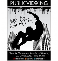 skate board tournament flyer vector image