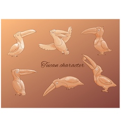 tucan character set vector image