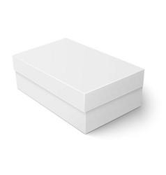 White cardboard shoebox template vector image vector image