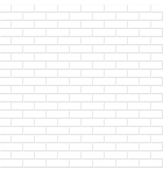 Brick wall texture White seamless background vector image