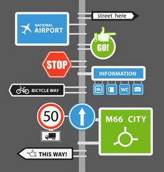 Different road signs vector image