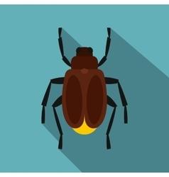 Harvest bug icon flat style vector image