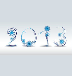 2013 the cover of a greeting card vector image