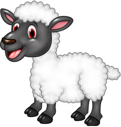 Cartoon funny sheep posing isolated vector image vector image