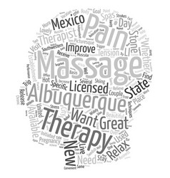 Get A Massage In Albuquerque text background vector image vector image