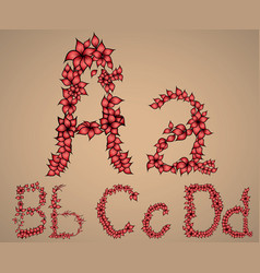 letters of the alphabet A B C D vector image