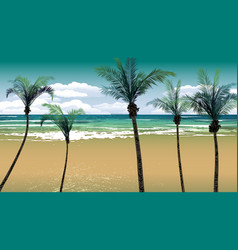 Palm Trees by the Beach Backdrop vector image vector image