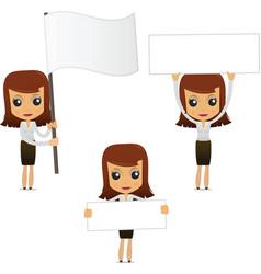 set of funny cartoon businesswoman vector image vector image