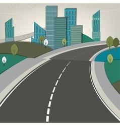 01 road landscape vector