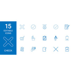 15 check icons vector