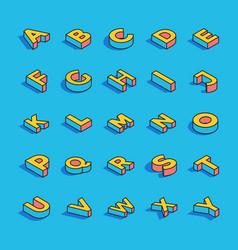 3d alphabet letters set vector