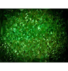 Abstract triangular green background vector