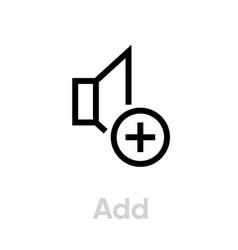 add sound music icon editable line vector image
