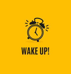 alarm clock concept banner flat design style vector image