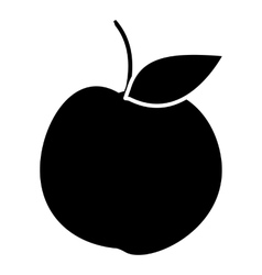 Apple icon simple style vector image