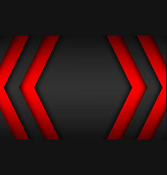 Black and red overlap arrows abstract background vector