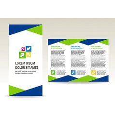 Brochure folder triangles design vector