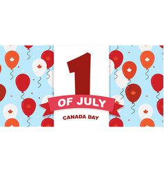 canada day celebration canada independence day vector image