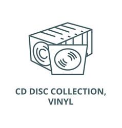 cd disc collectionvinyl line icon cd vector image