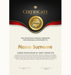 Certificate template with luxury and elegant vector