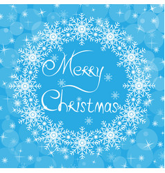 christmas blue card vector image