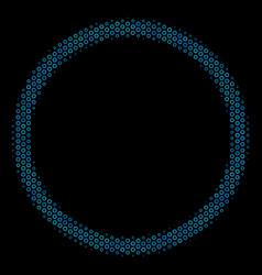 Circle bubble composition icon of halftone circles vector