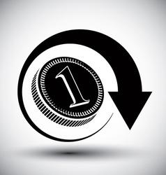 Coin cash money simple single color icon vector