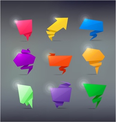 Colorful Abstract origami banners design element vector image