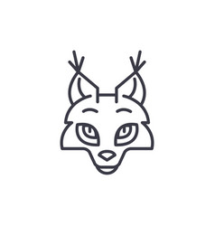 Coyote head line icon sign vector