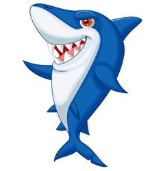 Cute shark cartoon vector