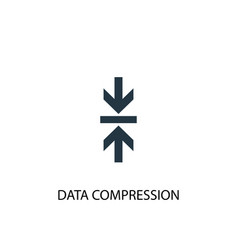data compression icon simple element vector image