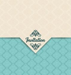 Decorative invitation design vector