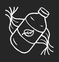 eco shampoo chalk icon vector image
