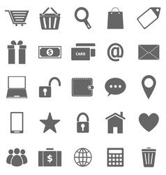 Ecommerce icons on white background vector image