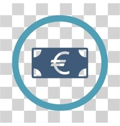 Euro Banknote Flat Rounded Icon vector image
